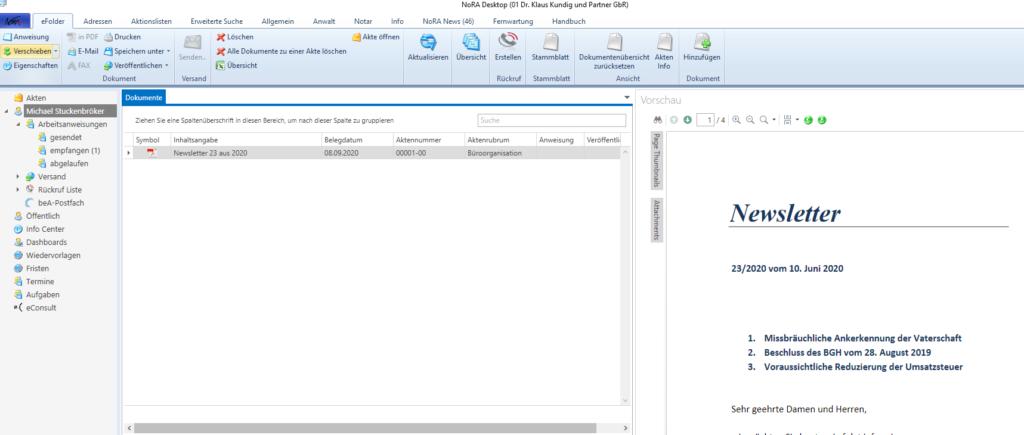 eFolder Workflow