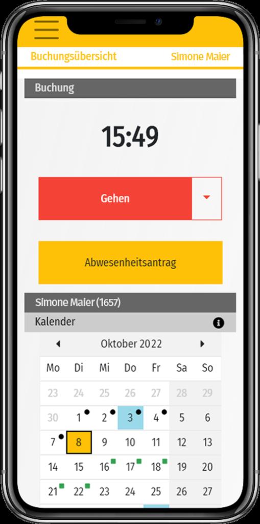 Mobile App Zeiterfassung